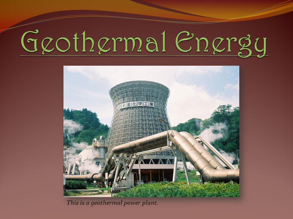 This is a geothermal power plant.