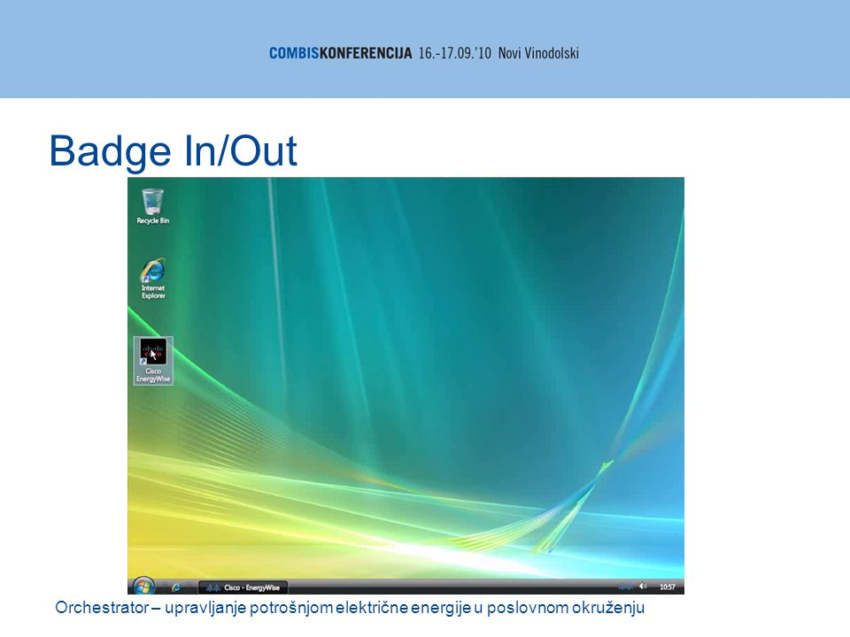 Orchestrator – upravljanje potrošnjom električne energije u poslovnom okruženju Badge In/Out