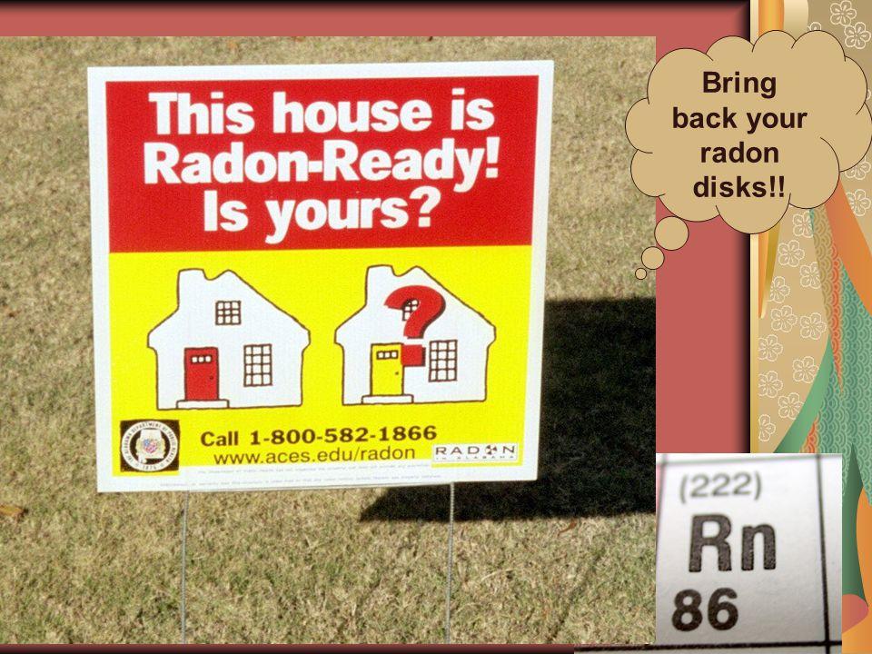 Bring back your radon disks!!