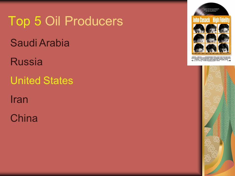 Top 5 Oil Producers Saudi Arabia Russia United States Iran China