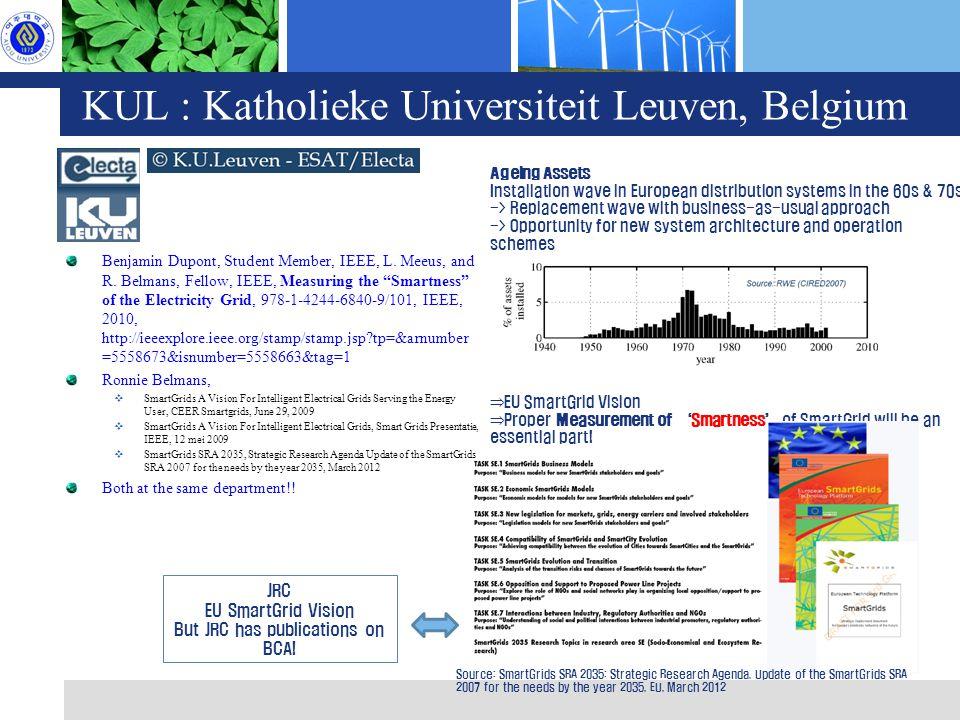 KUL : Katholieke Universiteit Leuven, Belgium Benjamin Dupont, Student Member, IEEE, L.