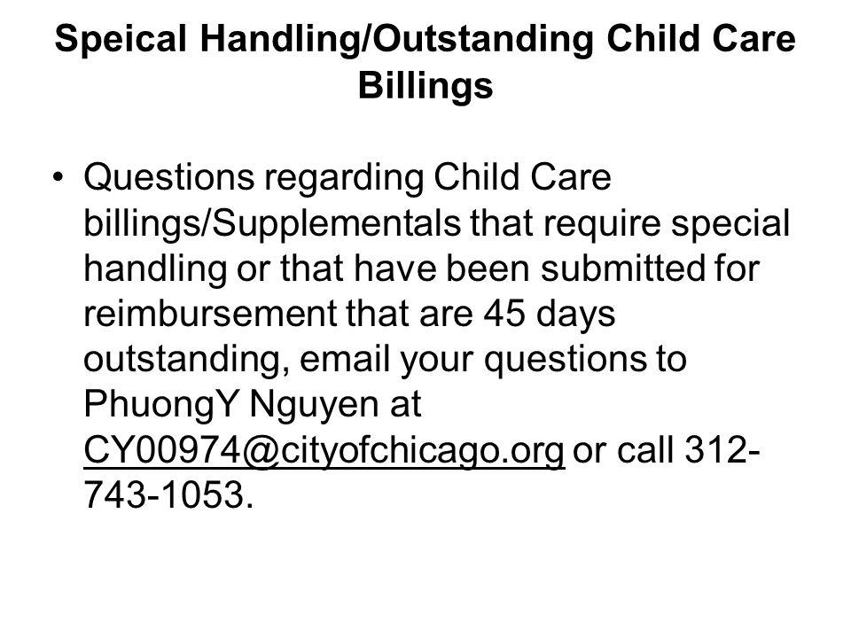 Child Care Technical Assistance Questions regarding the eligibility process or requests for on site technical assistance email questions/requests to Nakia Brandt to CY00046@cityofchicago.org or call 312-743-4836.