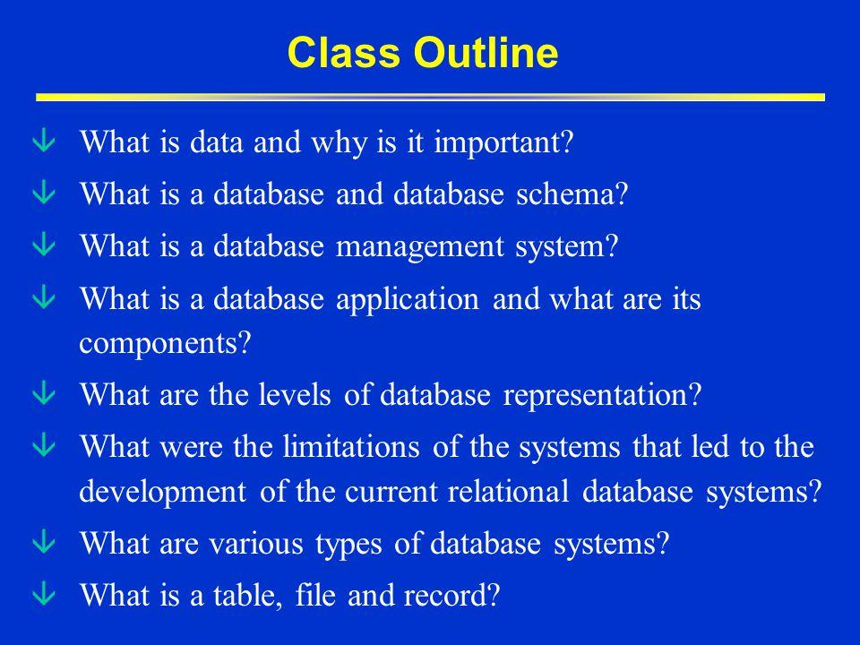 When do I use a Database program?