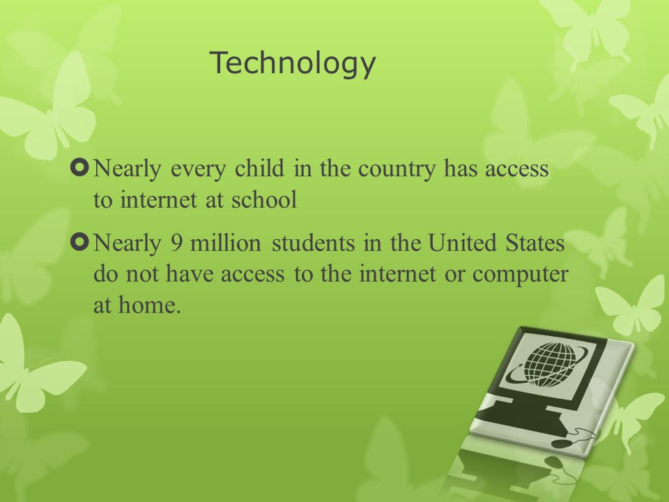 Digital Divide There is a Digital Divide in this country, it is the lack of Wi-Fi in students' homes across the United States.
