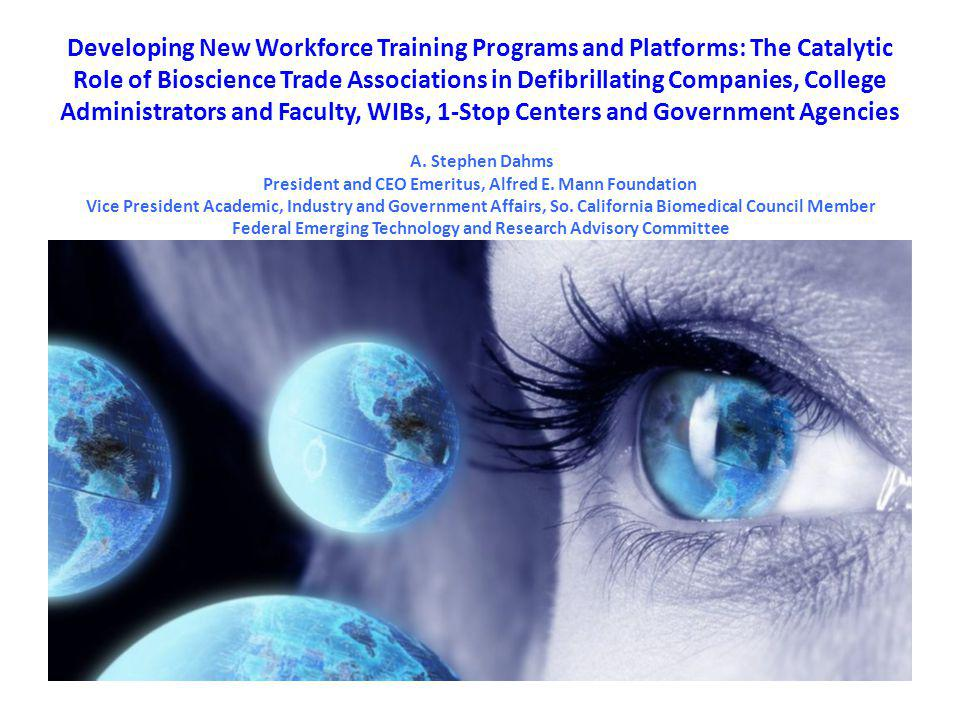 Developing New Workforce Training Programs and Platforms: The Catalytic Role of Bioscience Trade Associations in Defibrillating Companies, College Adm