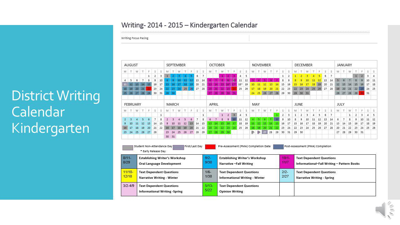 District Writing Calendar Grades 2-5 Note the different genres and the amount of time spent writing in each genre