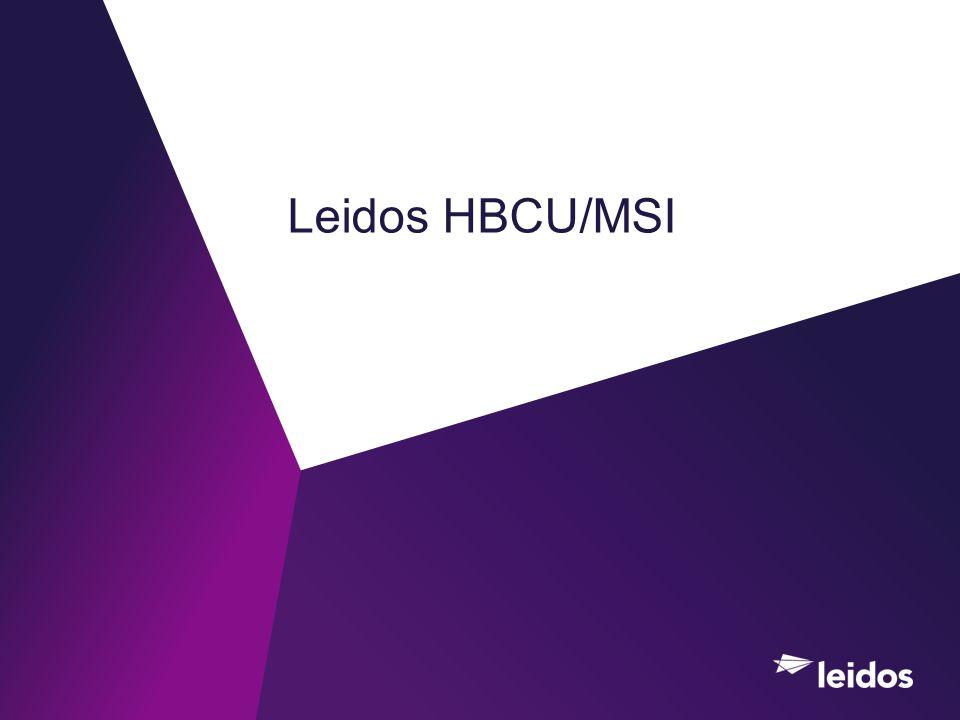 Leidos HBCU/MSI