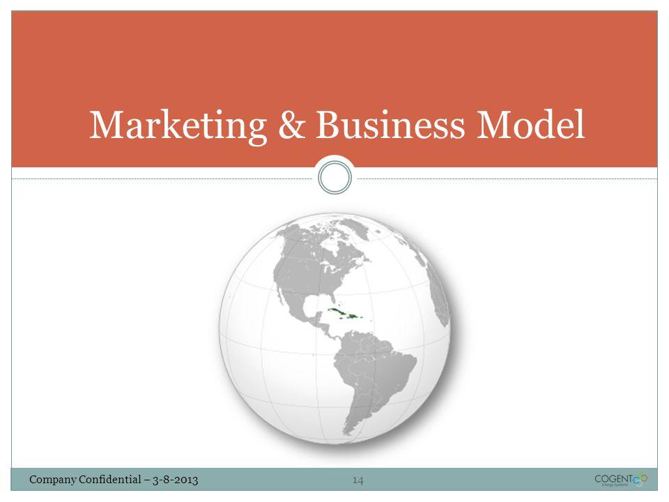 Company Confidential – 3-8-2013 14 Marketing & Business Model