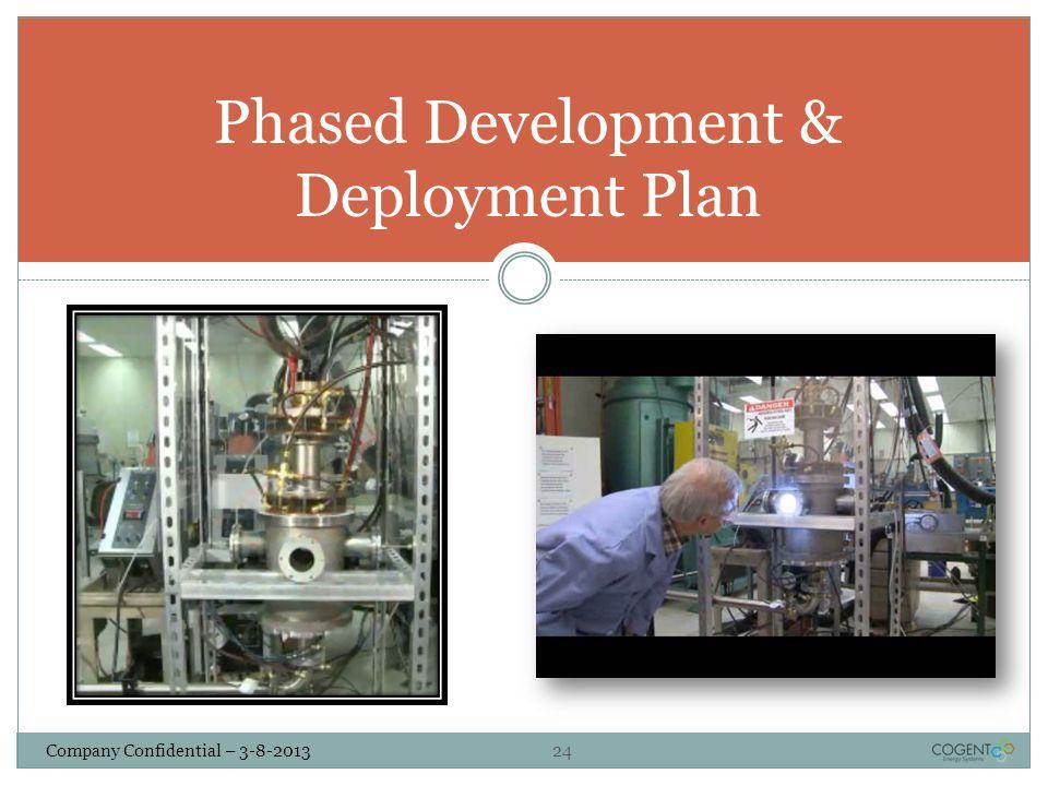Company Confidential – 3-8-2013 24 Phased Development & Deployment Plan