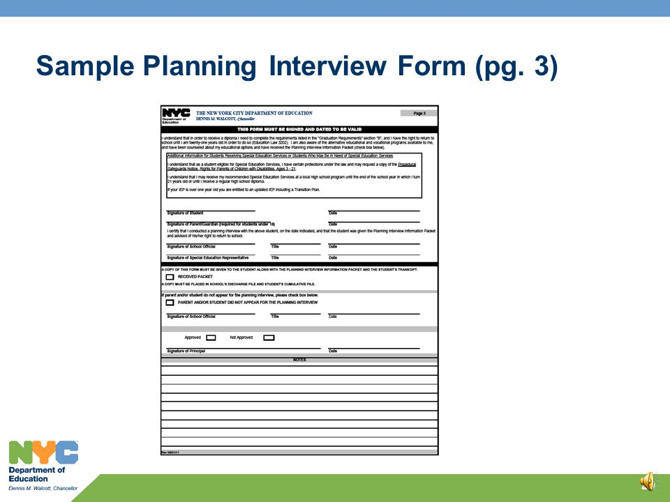 19 Sample Planning Interview Form (pg. 2)