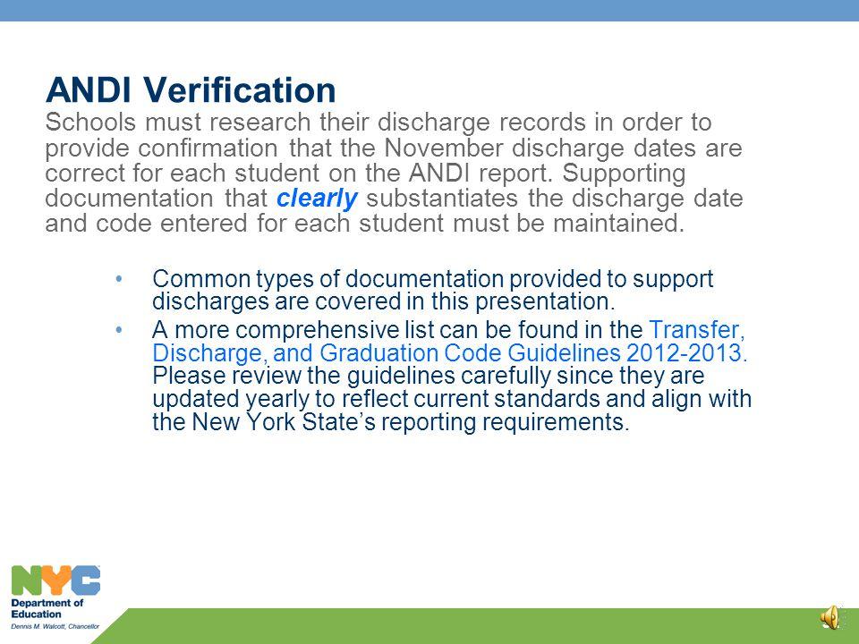 ANDI Verification 31