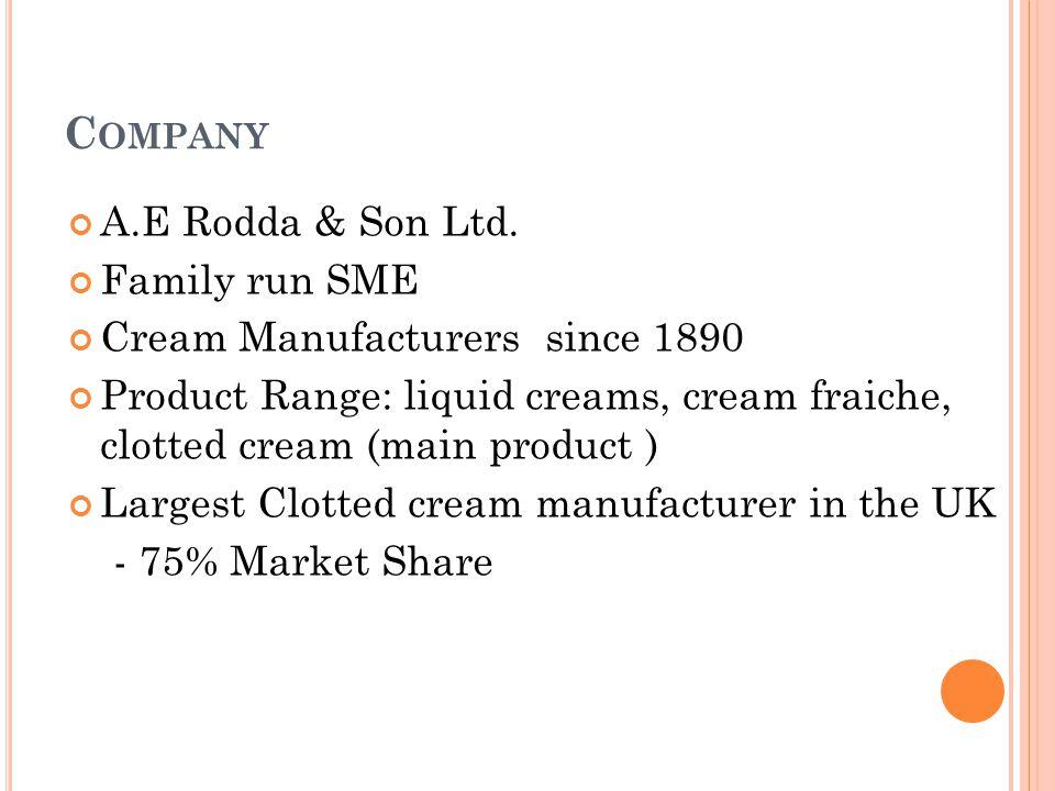 C OMPANY A.E Rodda & Son Ltd.
