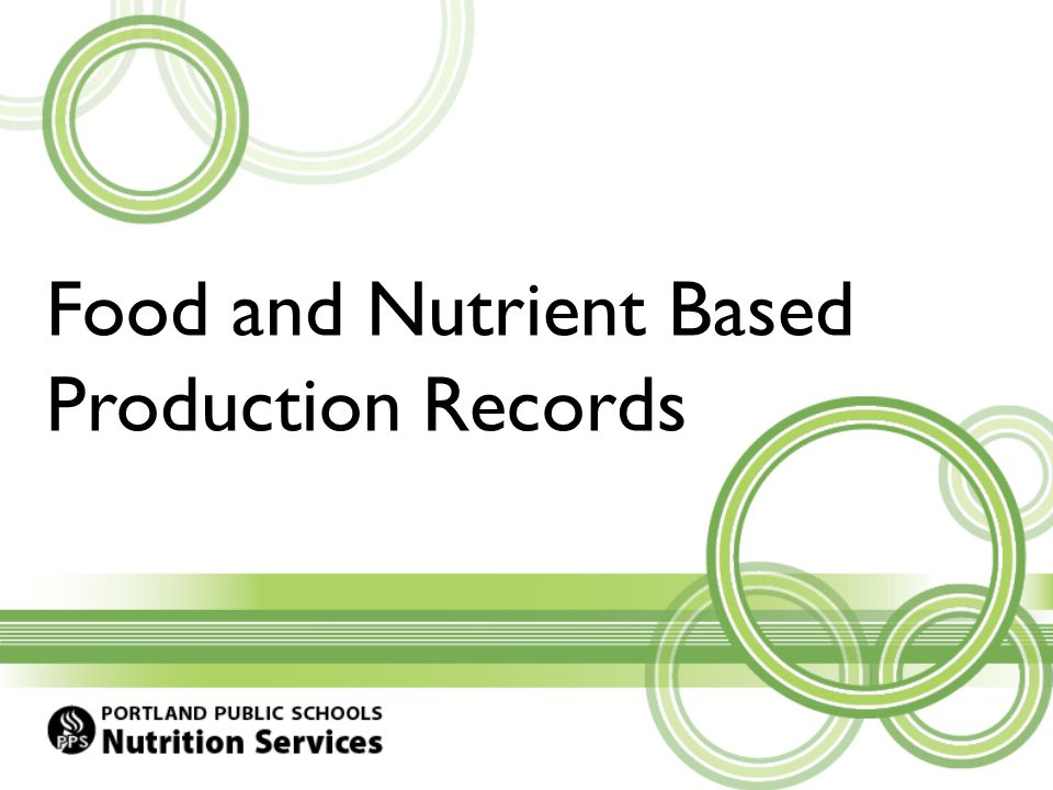 Why are Production Records Important.The paper copy is a legal document for meal claiming.
