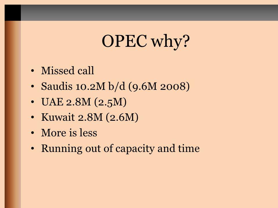 OPEC why.