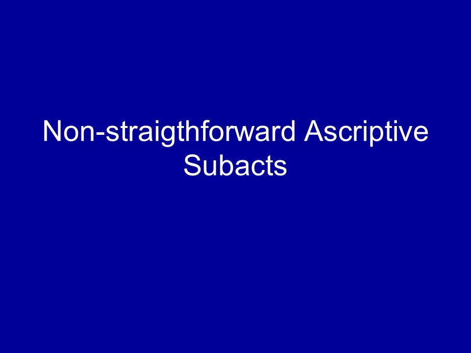 Non-straigthforward Ascriptive Subacts