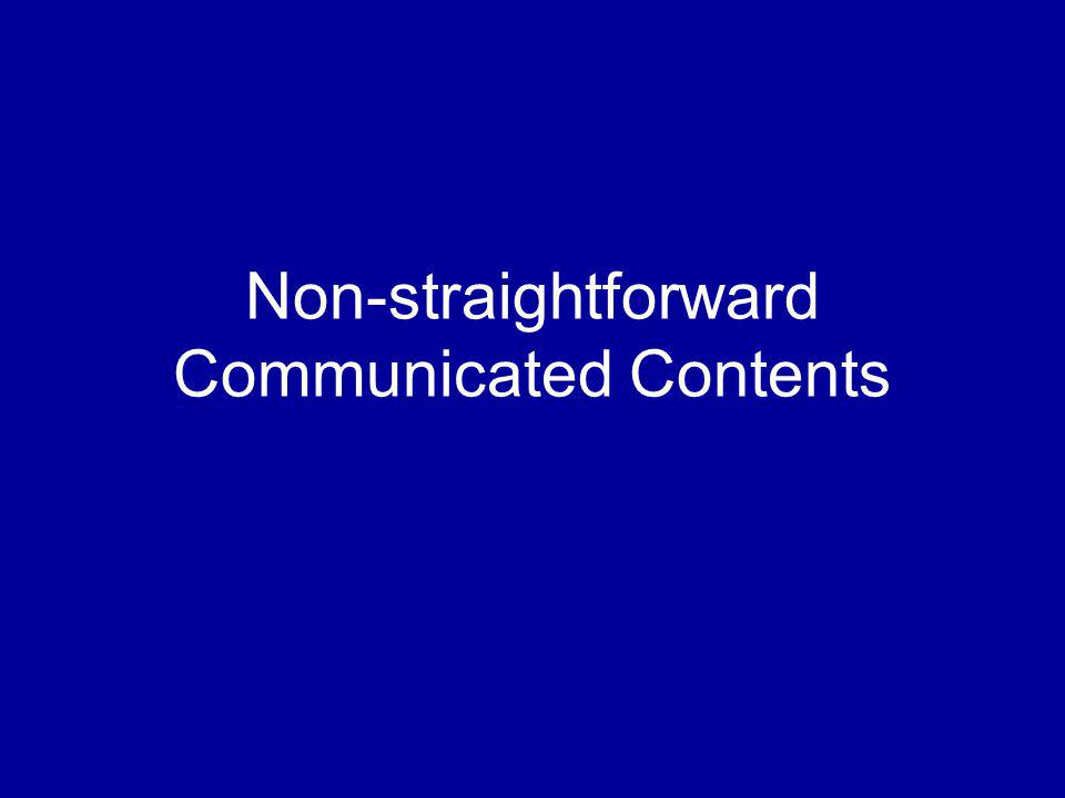Non-straightforward Communicated Contents