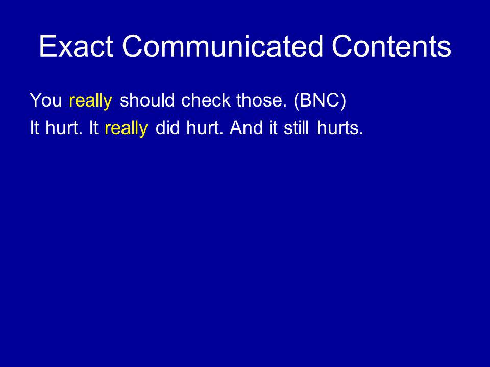 Exact Communicated Contents You really should check those.