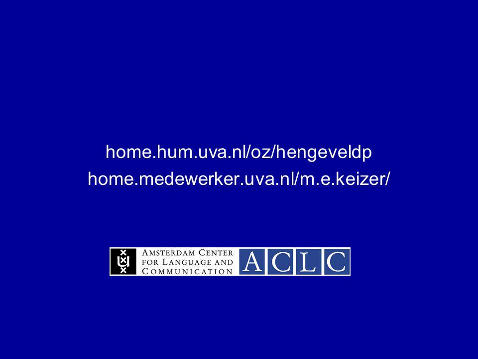 home.hum.uva.nl/oz/hengeveldp home.medewerker.uva.nl/m.e.keizer/