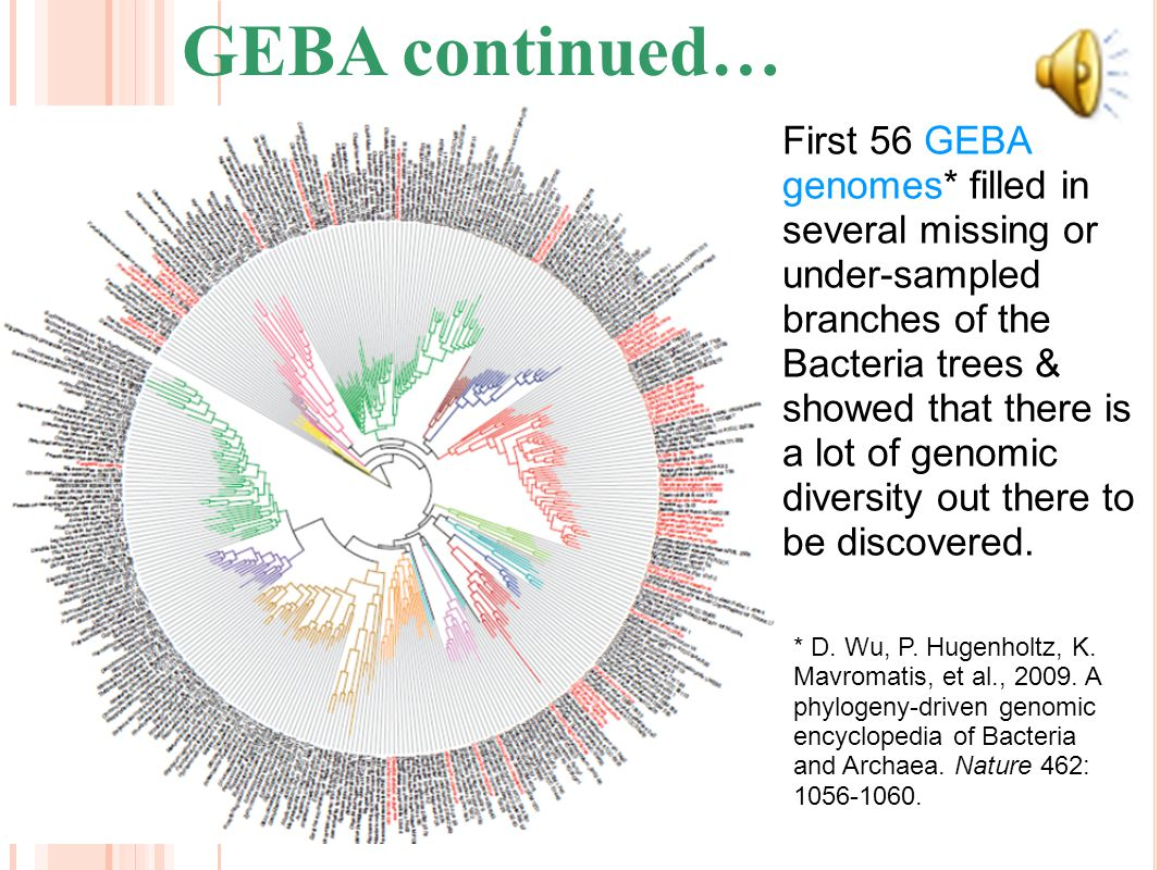 GEBA Genomes *T.P. Curtis, W.T. Sloan, and J.W. Scannell. 2002. Estimating prokaryotic diversity and its limits. Proc Natl Acad Sci USA 99: 10494-1049