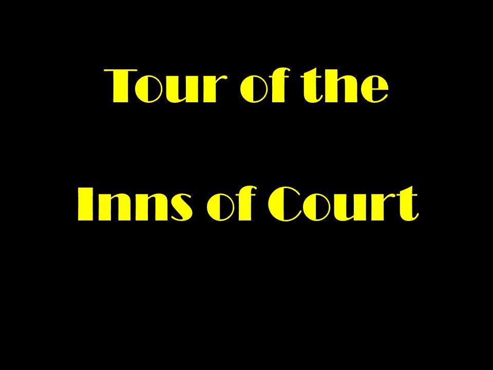 Tour of the Inns of Court