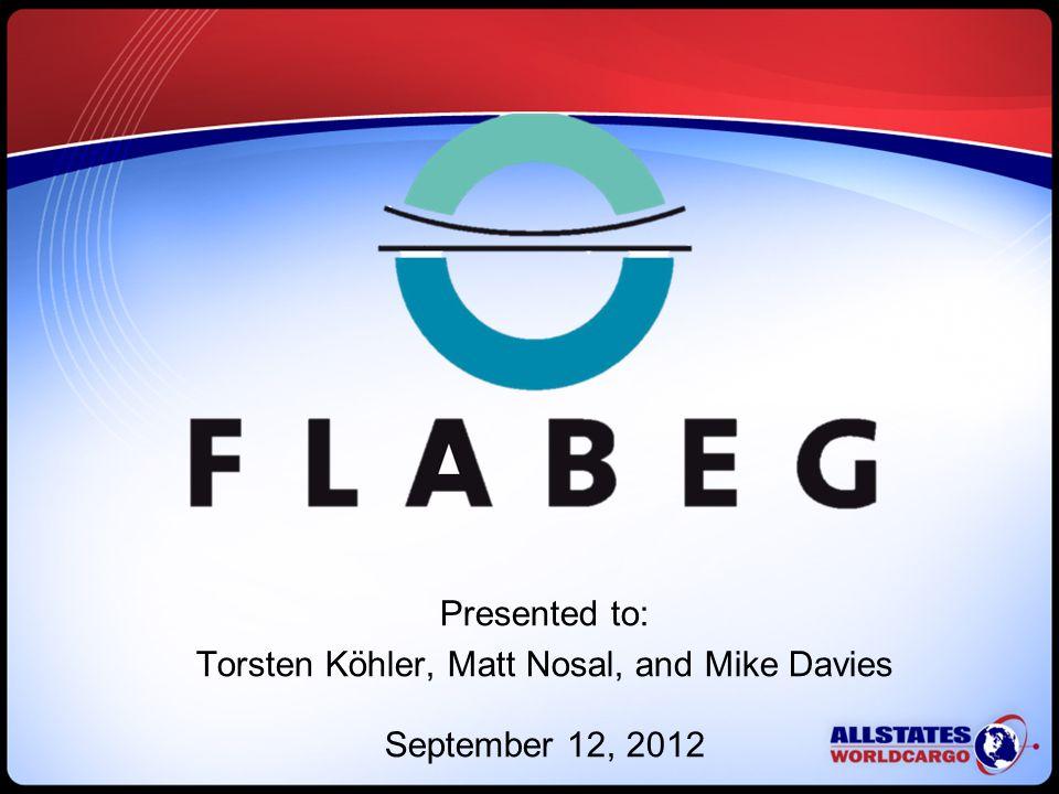 Presented to: Torsten Köhler, Matt Nosal, and Mike Davies September 12, 2012