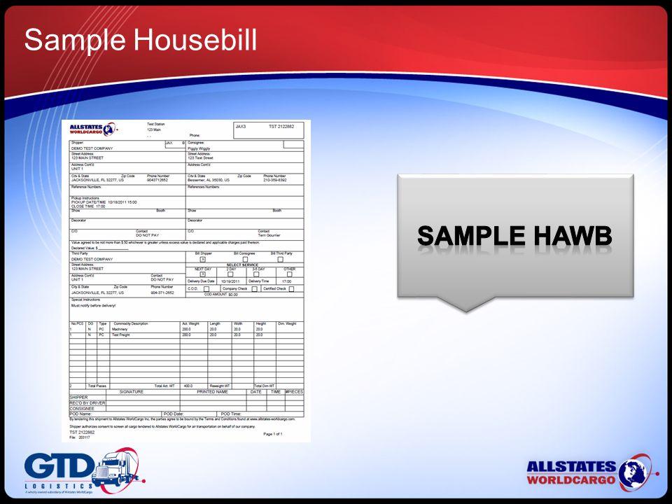 Sample Housebill