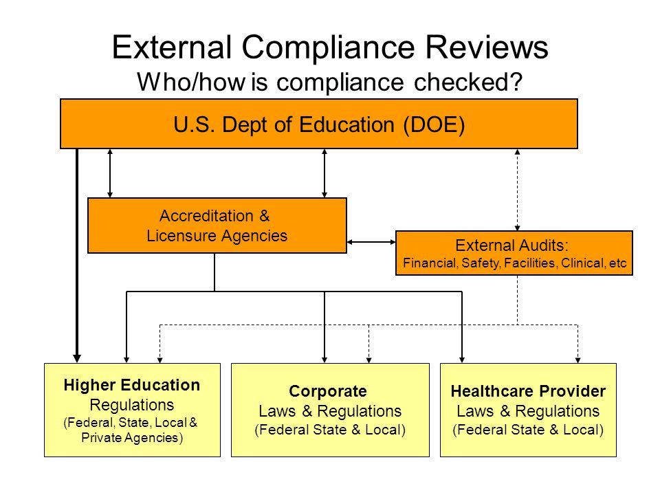 Palmer's Compliance Program Seeks to reduce institutional risk through: Global oversight of compliance requirements and activities Increasing lateral and horizontal communication about compliance efforts and requirements Establishing or clarifying division/department compliance processes