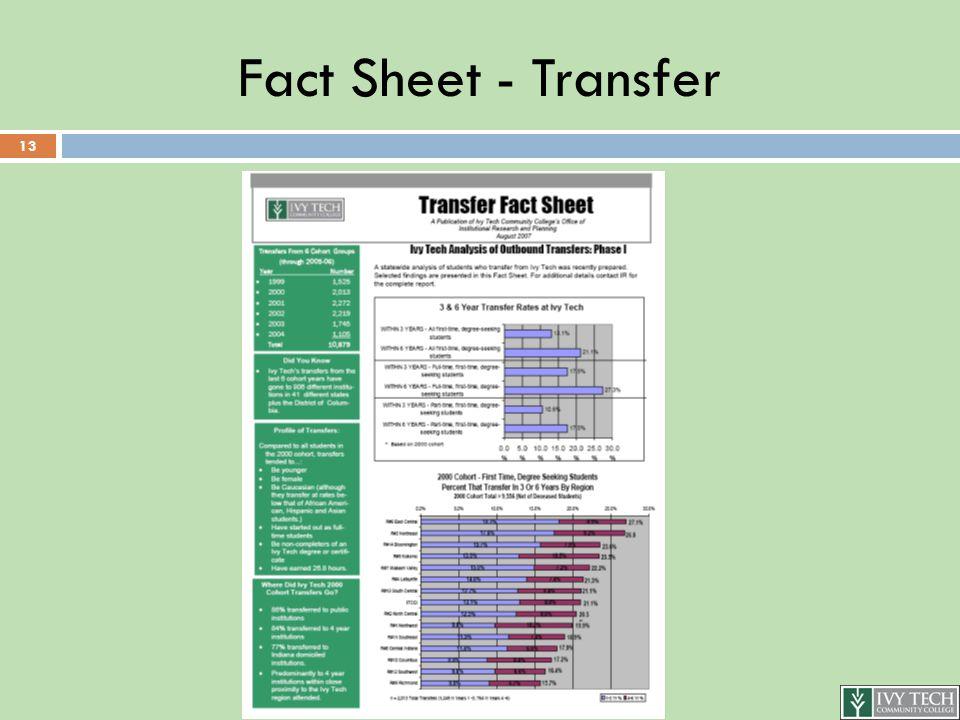 Fact Sheet - Transfer 13