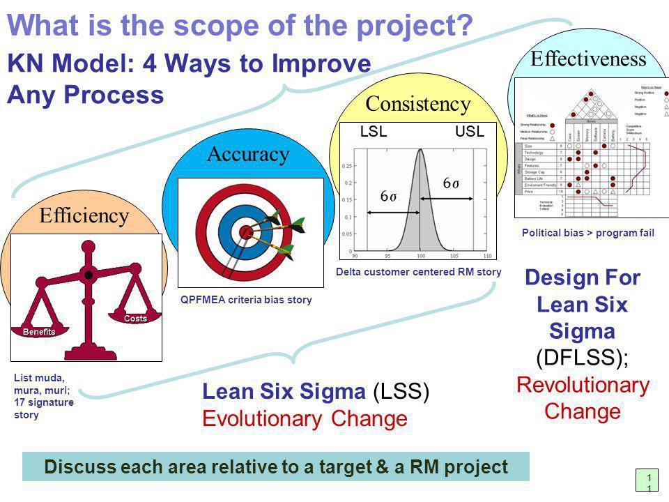 NGT Brainstorming - Multi-vote likelihood (3 votes) 12 What is a more reasonable improvement project.