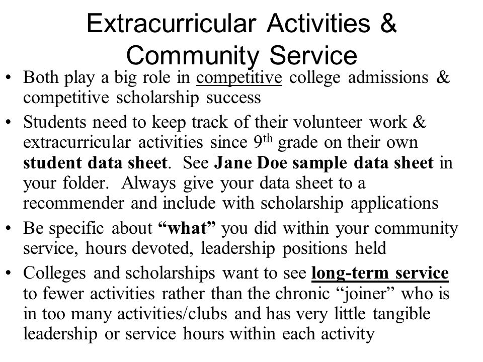 How to possibly win those BIG scholarships A student who can demonstrate initiation of a community service project or event shows a level of commitment, leadership, maturity, and achievement much higher than merely participating in a project initiated by someone else.