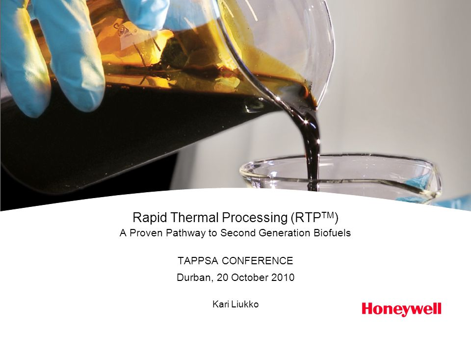 Honeywell Confidential2 Contents Introduction What is driving for 2 nd generation biofuels.