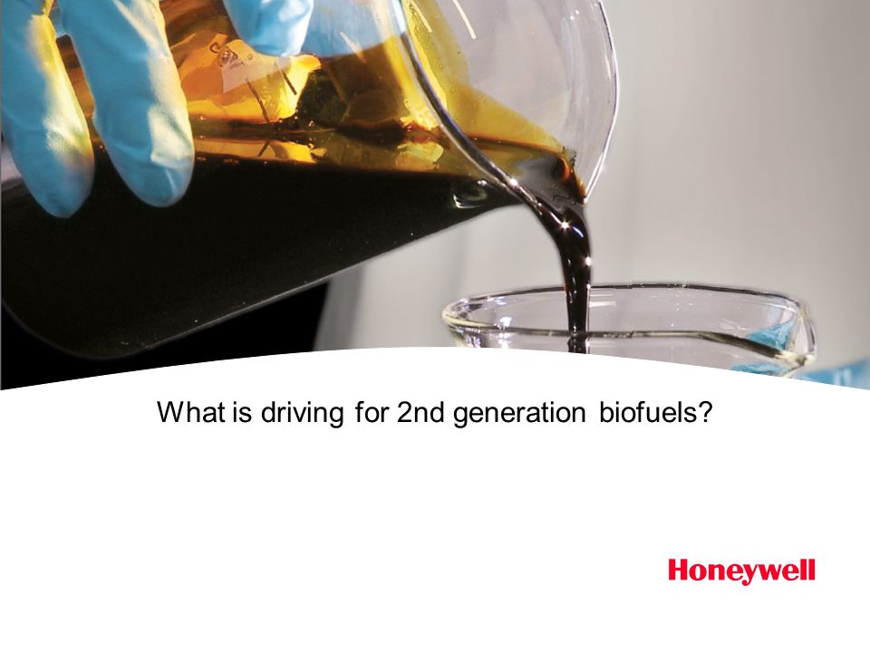 What is driving for 2nd generation biofuels?