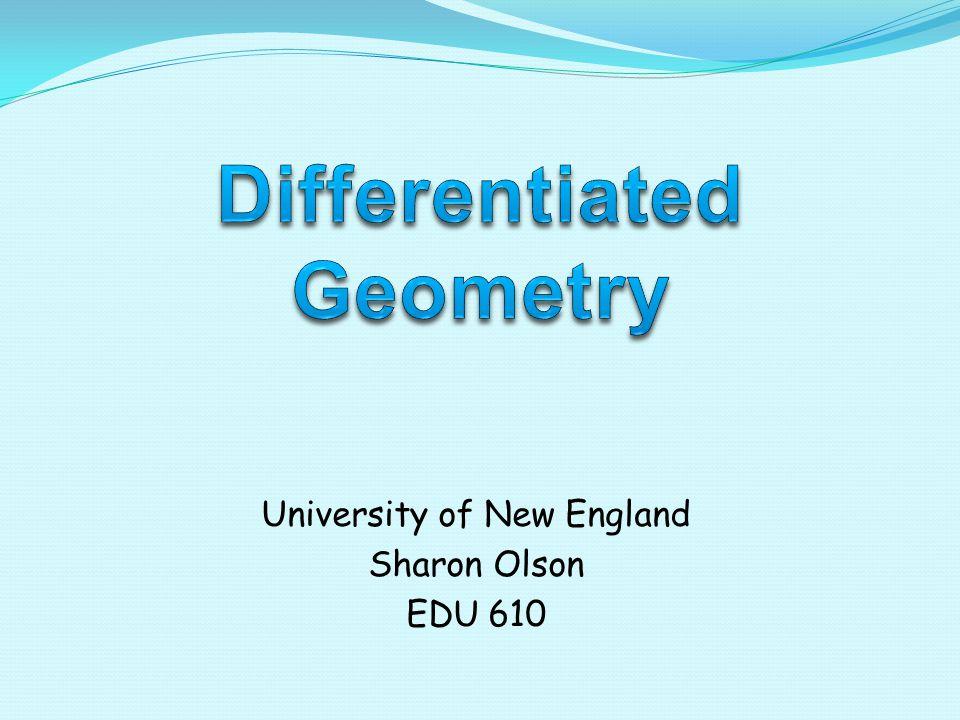 University of New England Sharon Olson EDU 610