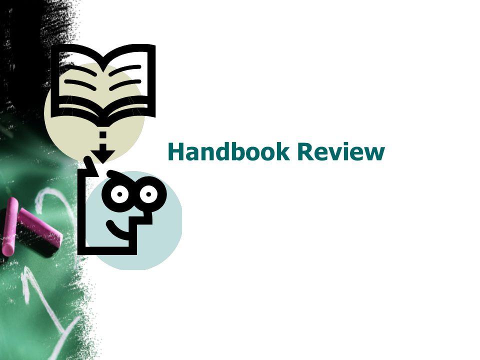 Handbook Review