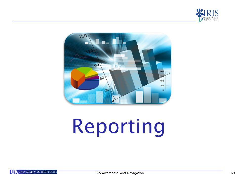 IRIS Awareness and Navigation69 Reporting