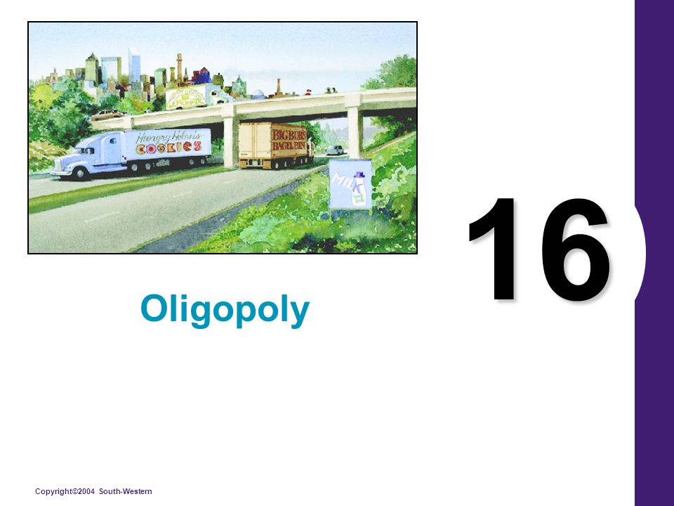 Copyright©2004 South-Western 16 Oligopoly