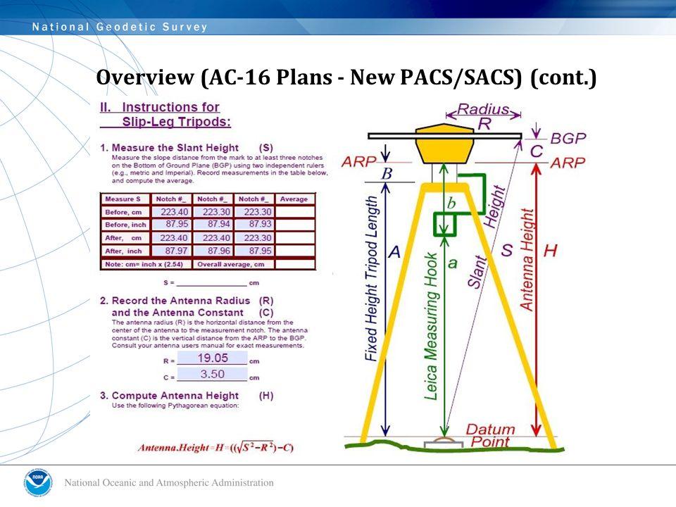 Overview (AC-16 Plans - New PACS/SACS) (cont.)