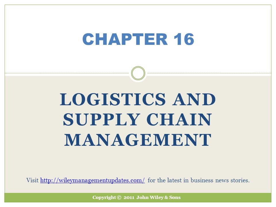 Chapter 16 Learning Objectives 1.