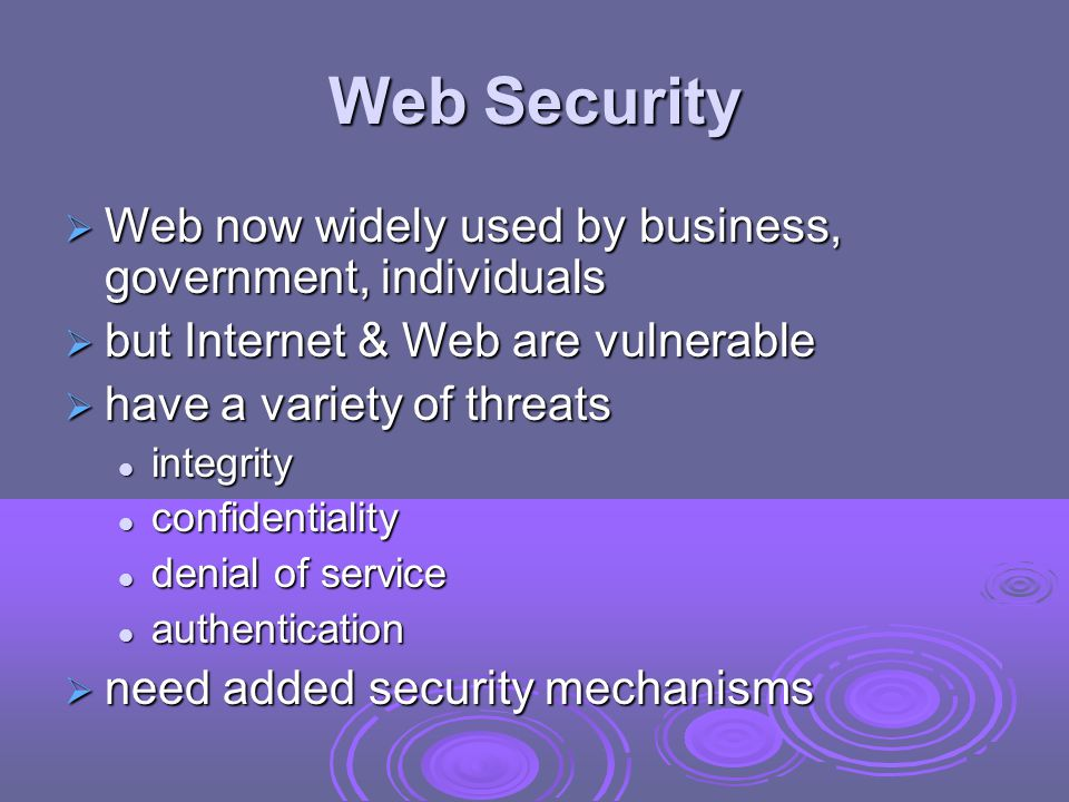 Web Traffic Security Approaches