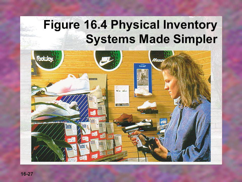 16-27 Figure 16.4 Physical Inventory Systems Made Simpler