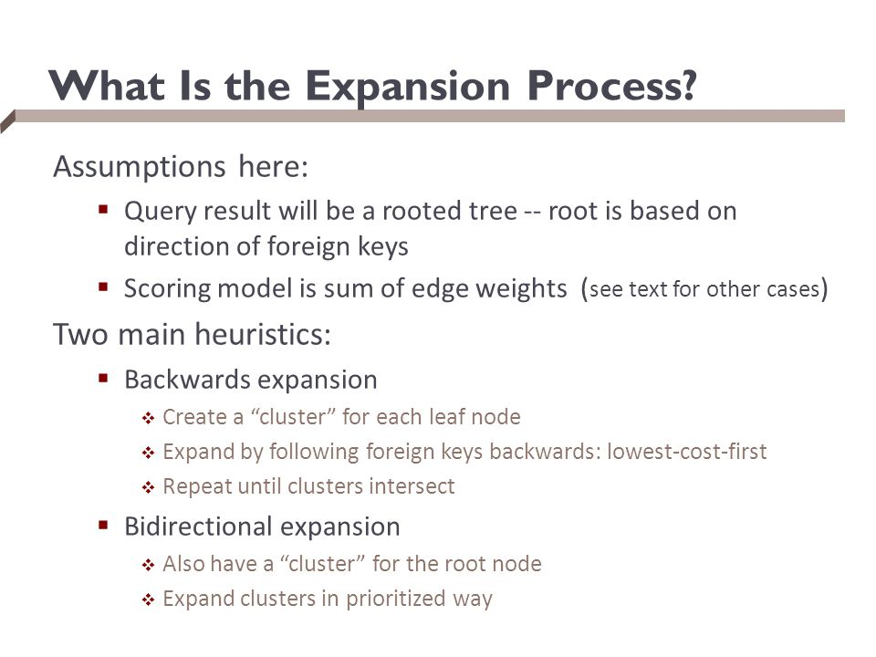 What Is the Expansion Process.