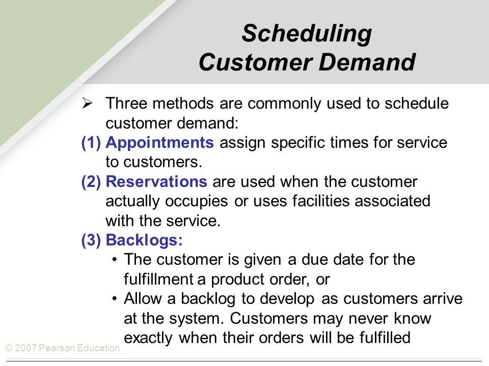 © 2007 Pearson Education 12.315106.12.460.89 210.51027.81.281.10 36.2201214.51.380.46 415.68510.2.78– 0.44 OperationTime Time atRemainingNumber of Engineto Due DateOperationsShop Time JobLathe (hr)(Days)RemainingRemainingCRS/RO S/RO = Time remaining to due date – Shop time remaining Number of operations remaining Example 16.3 Multiple-Dimension Rule – S/RO