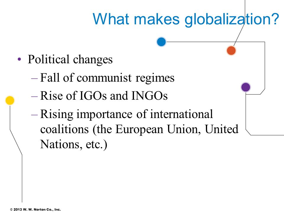 © 2013 W.W. Norton Co., Inc. What makes globalization.