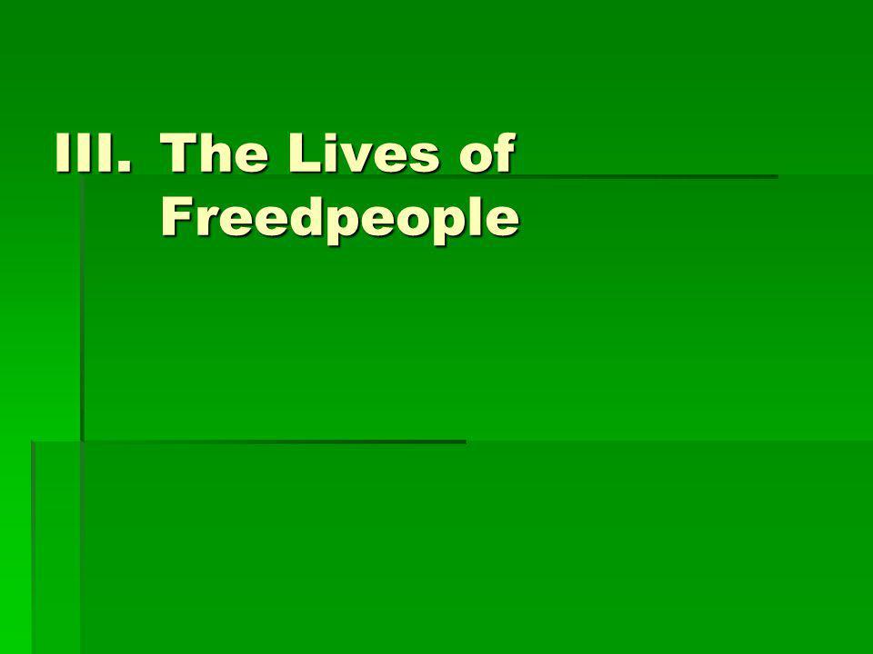 III.The Lives of Freedpeople