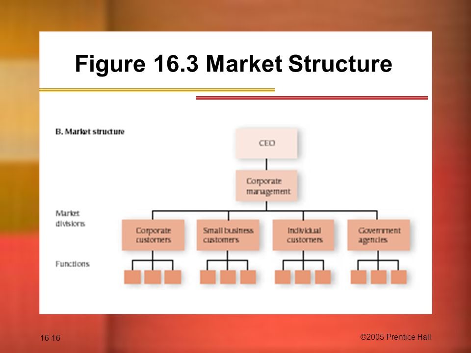 16-16 ©2005 Prentice Hall Figure 16.3 Market Structure
