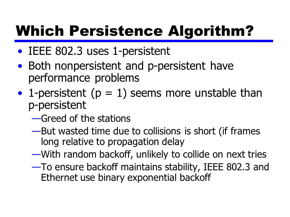 Which Persistence Algorithm.