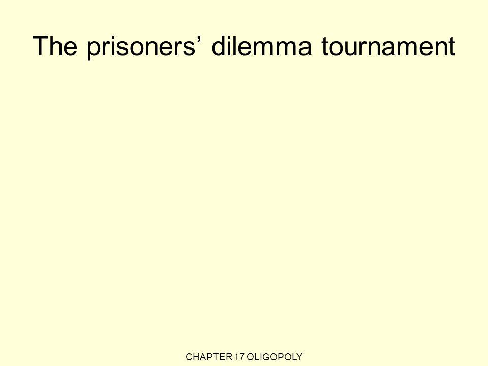 The prisoners' dilemma tournament CHAPTER 17 OLIGOPOLY