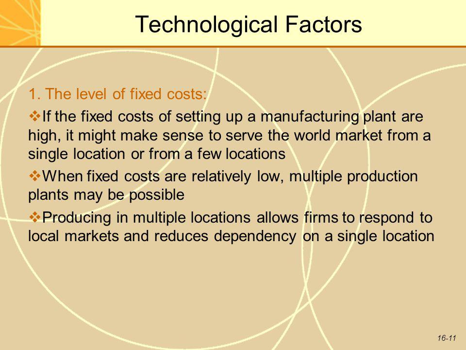 16-11 Technological Factors 1.