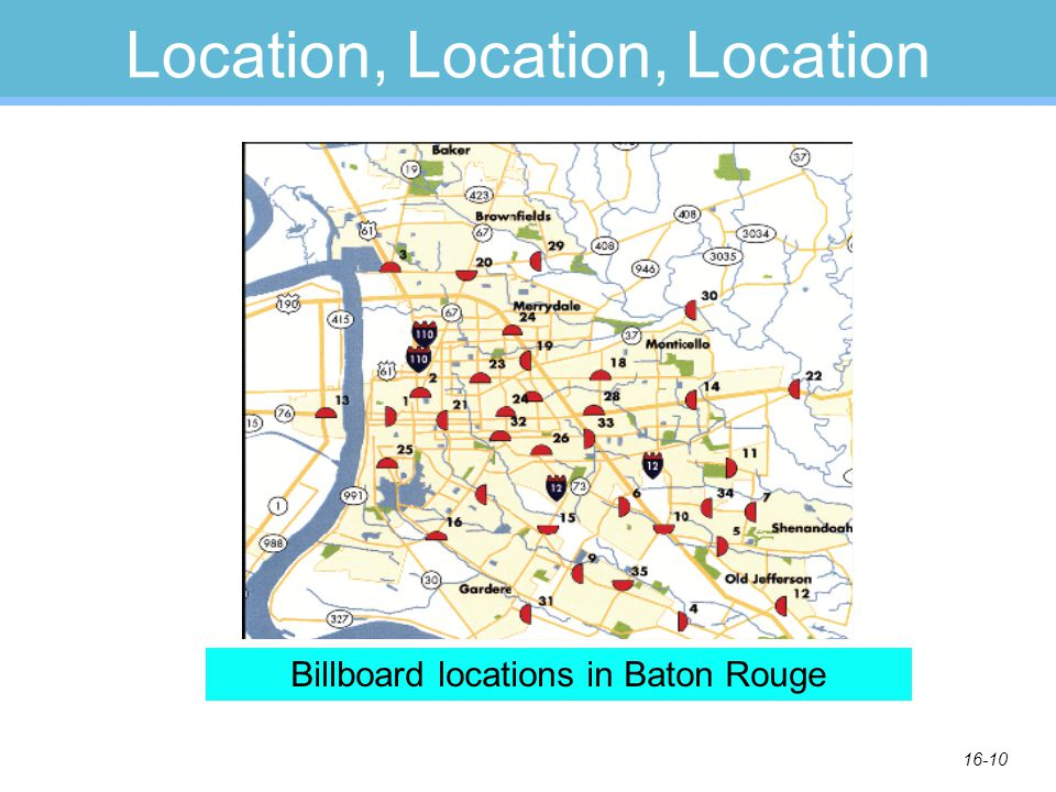 16-10 Location, Location, Location Billboard locations in Baton Rouge