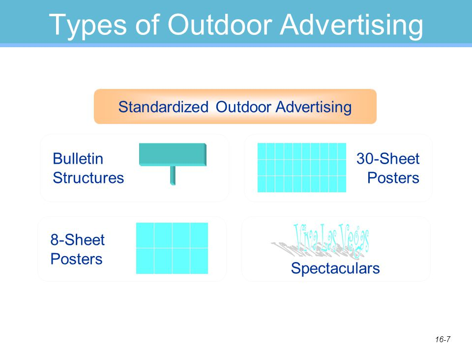 16-8 Types of Outdoor Advertising Using surroundings to accent an ad